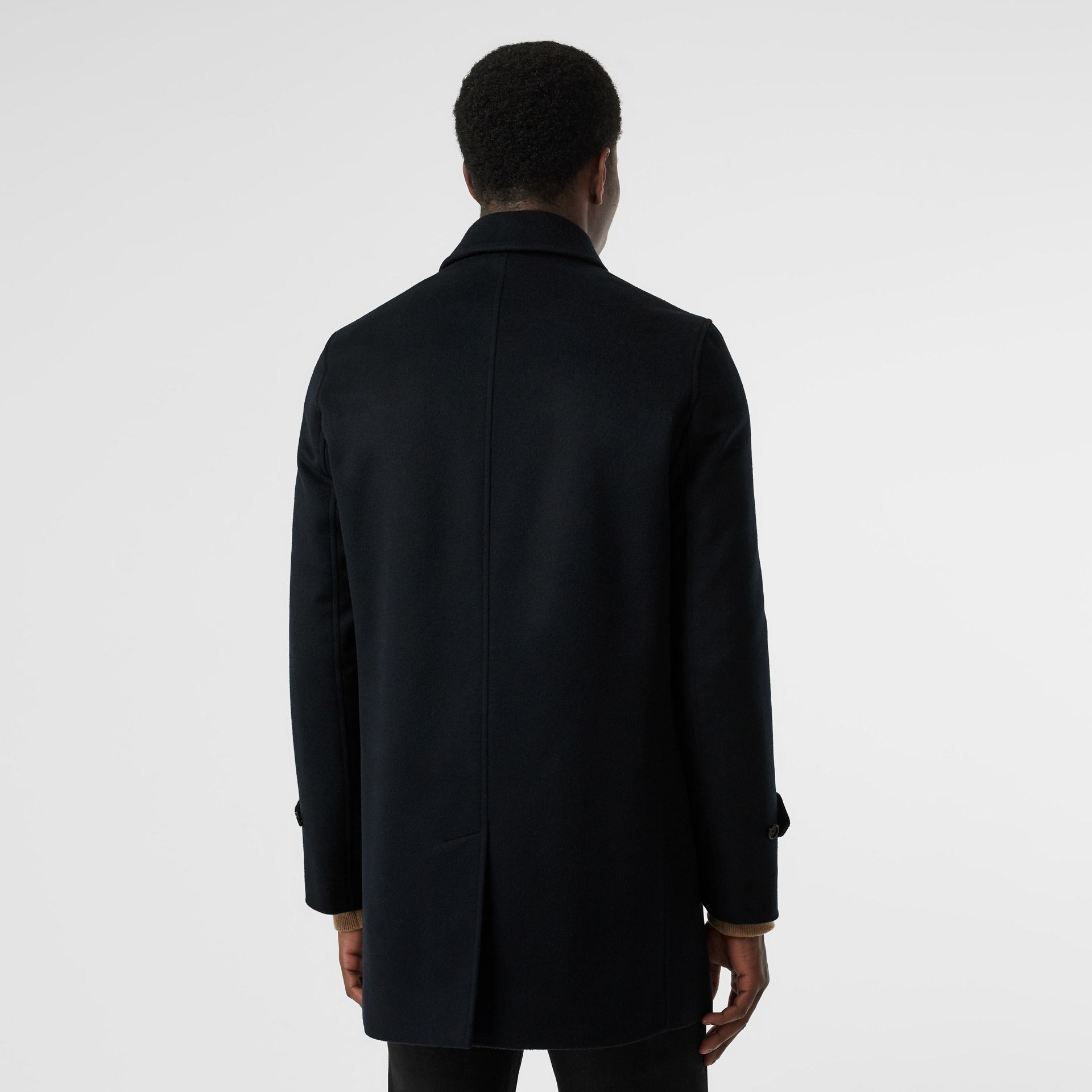 Wool Cashmere Car Coat in Navy - Men | Burberry Hong Kong S.A.R - gallery image 2