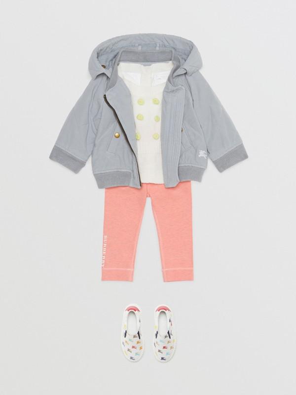 Giacca con cappuccio trapuntata in cotone (Blu Polvere) - Bambini | Burberry - cell image 2