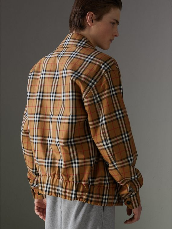 Rainbow Vintage Check Harrington Jacket in Antique Yellow/rainbow - Men | Burberry United States - cell image 2