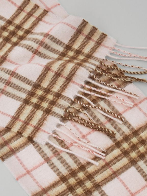 The Mini Classic Vintage Check Cashmere Scarf in Ice Pink - Children | Burberry - cell image 1