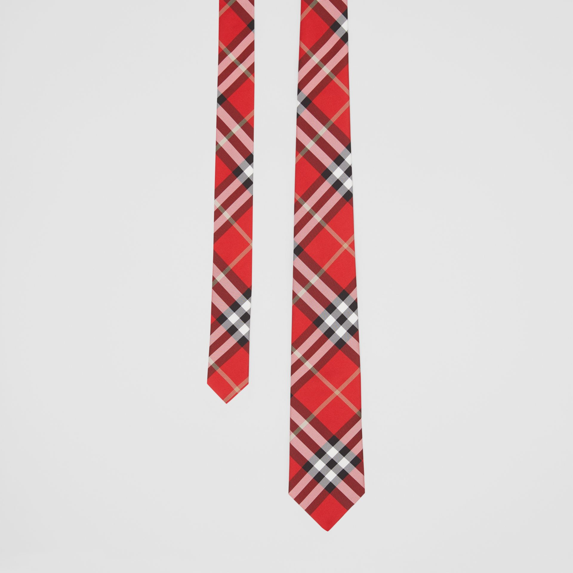 Classic Cut Vintage Check Silk Tie in Red - Men | Burberry - gallery image 0