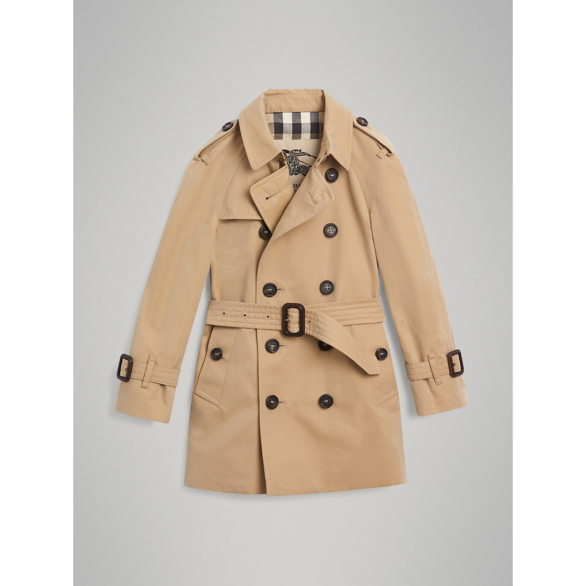 Trench The Wiltshire (Miel) - Garçon | Burberry - photo de la galerie 3