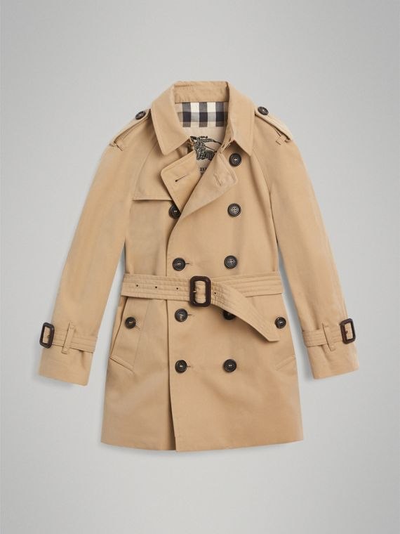 The Wiltshire Trench Coat in Honey - Boy | Burberry - cell image 3