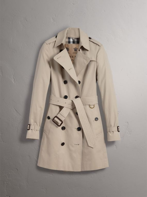 The Sandringham – Mid-Length Heritage Trench Coat in Stone - Women | Burberry - cell image 3
