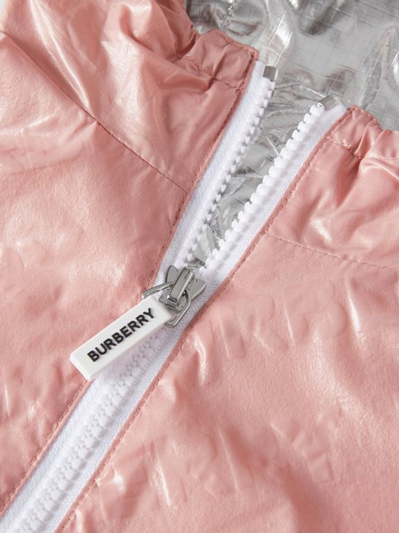 Logo Print Lightweight Hooded Jacket in Dusty Pink - Children | Burberry United States - cell image 1