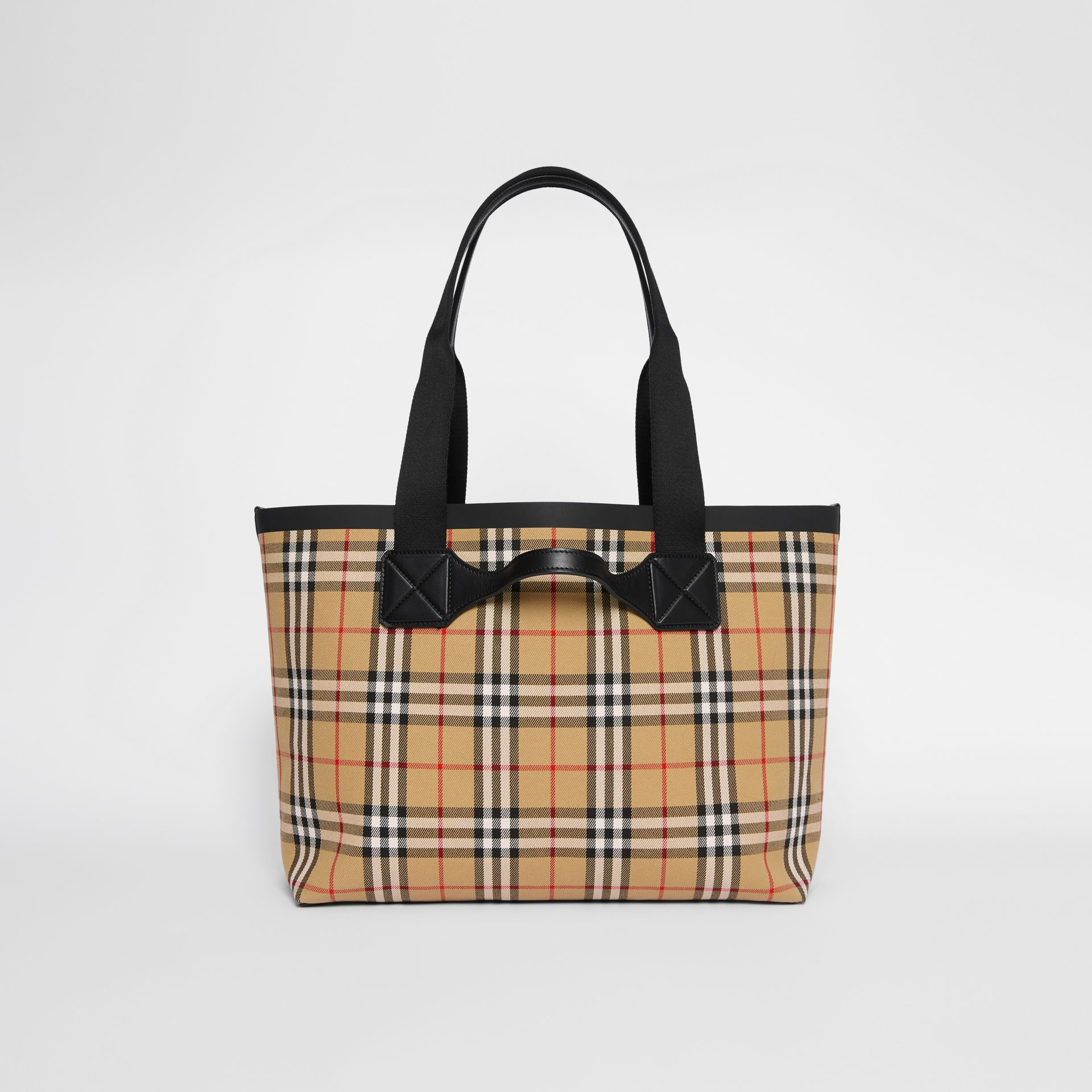 Medium Vintage Check Austen Tote in Archive Beige - Women | Burberry - gallery image 7