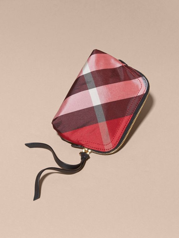 Small Zip-top Check Pouch Parade Red - cell image 2