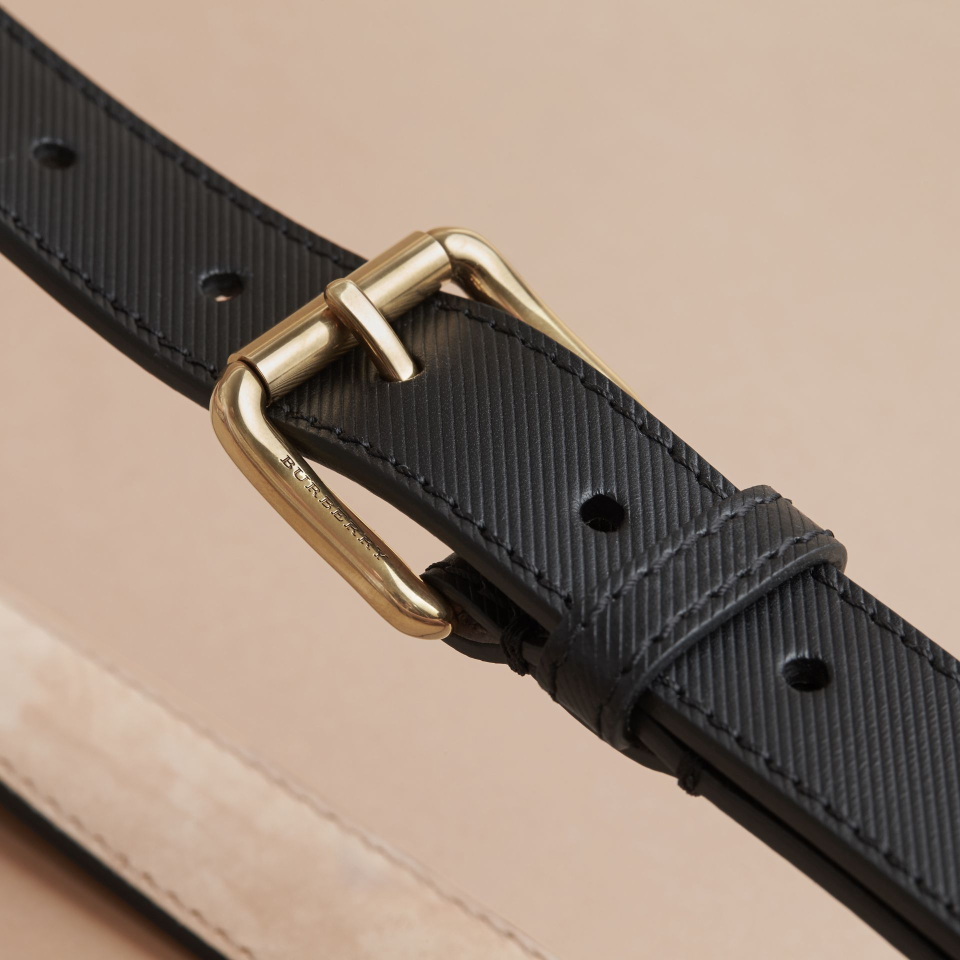 Trench Leather Belt in Black - Men | Burberry United Kingdom - gallery image 4