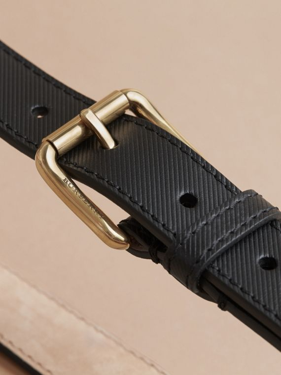 Trench Leather Belt in Black - Men | Burberry Singapore - cell image 3