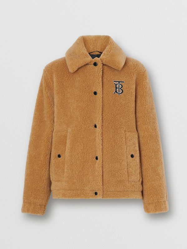 Monogram Motif Fleece Jacket in Camel - Women | Burberry - cell image 3