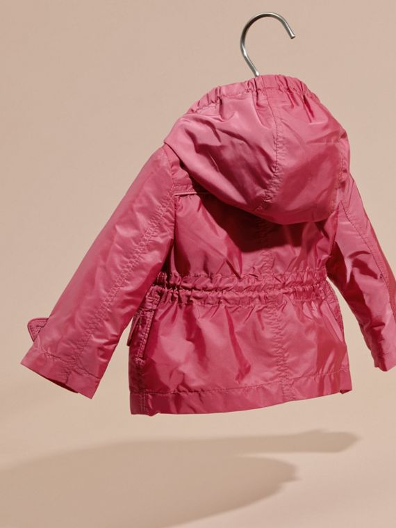 Hooded Packaway Technical Jacket in Pink Azalea - cell image 3