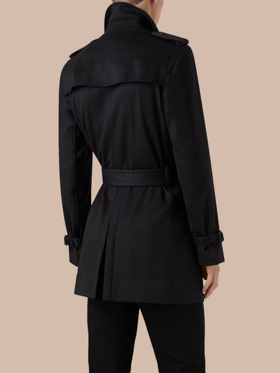 Navy Cashmere Trench Coat - cell image 2