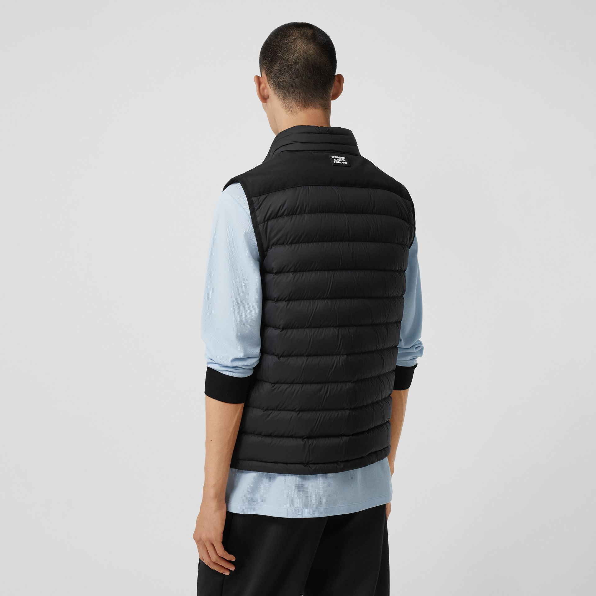 Logo Graphic Puffer Gilet in Black - Men | Burberry - gallery image 2