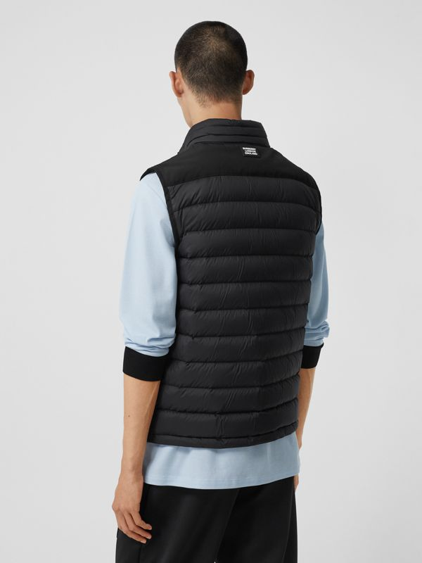 Logo Graphic Puffer Gilet in Black - Men | Burberry - cell image 2