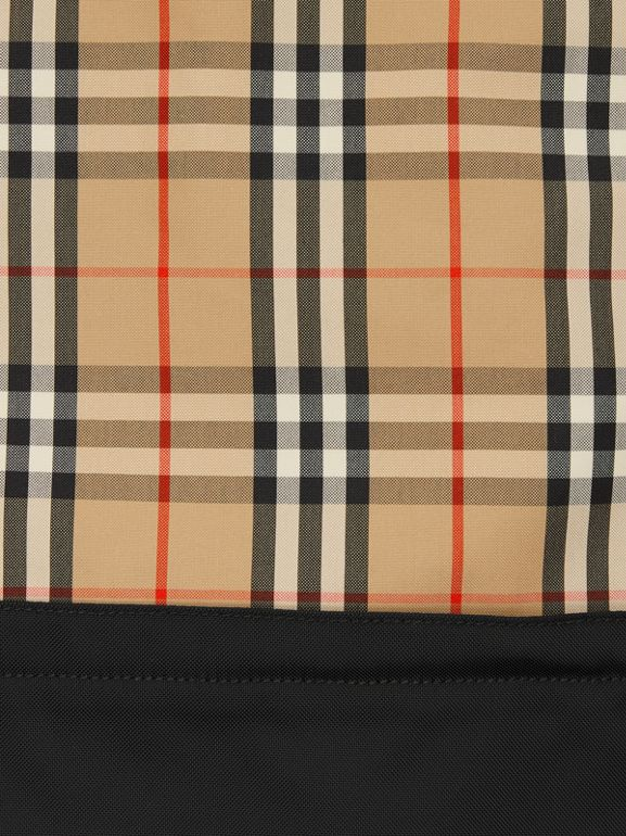 Vintage Check Panel Drawcord Backpack in Archive Beige | Burberry Canada - cell image 1