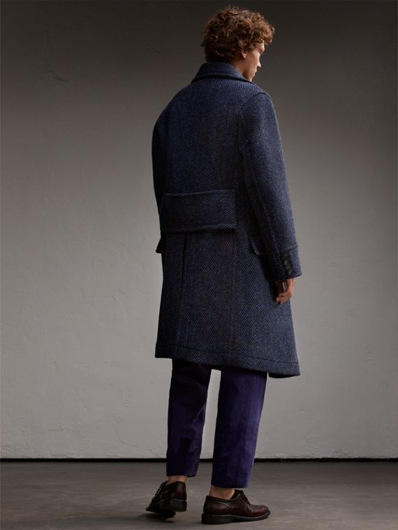 Donegal Herringbone Wool Tweed Topcoat - cell image 2