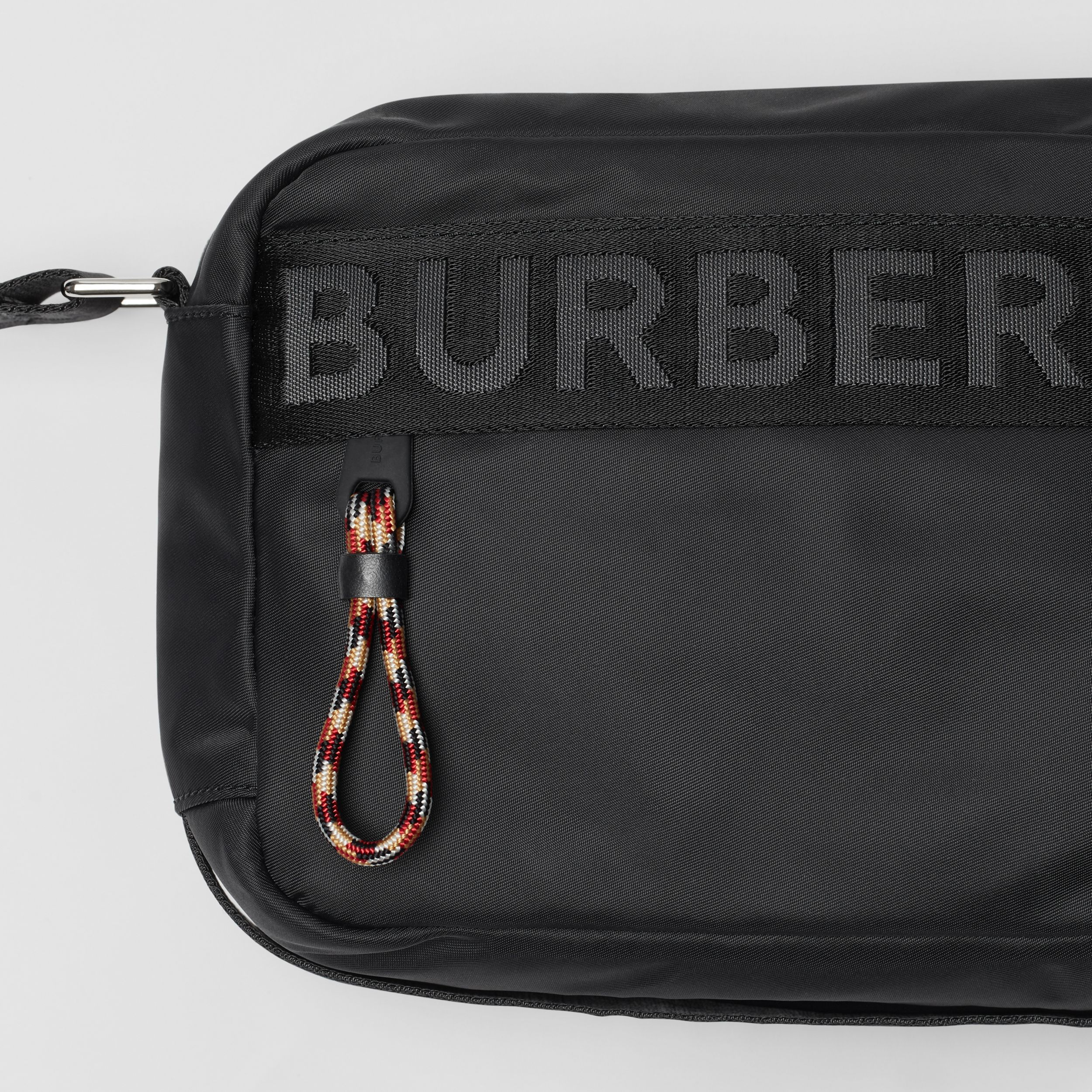 Logo Detail ECONYL® Crossbody Bag in Black - Men | Burberry - 2