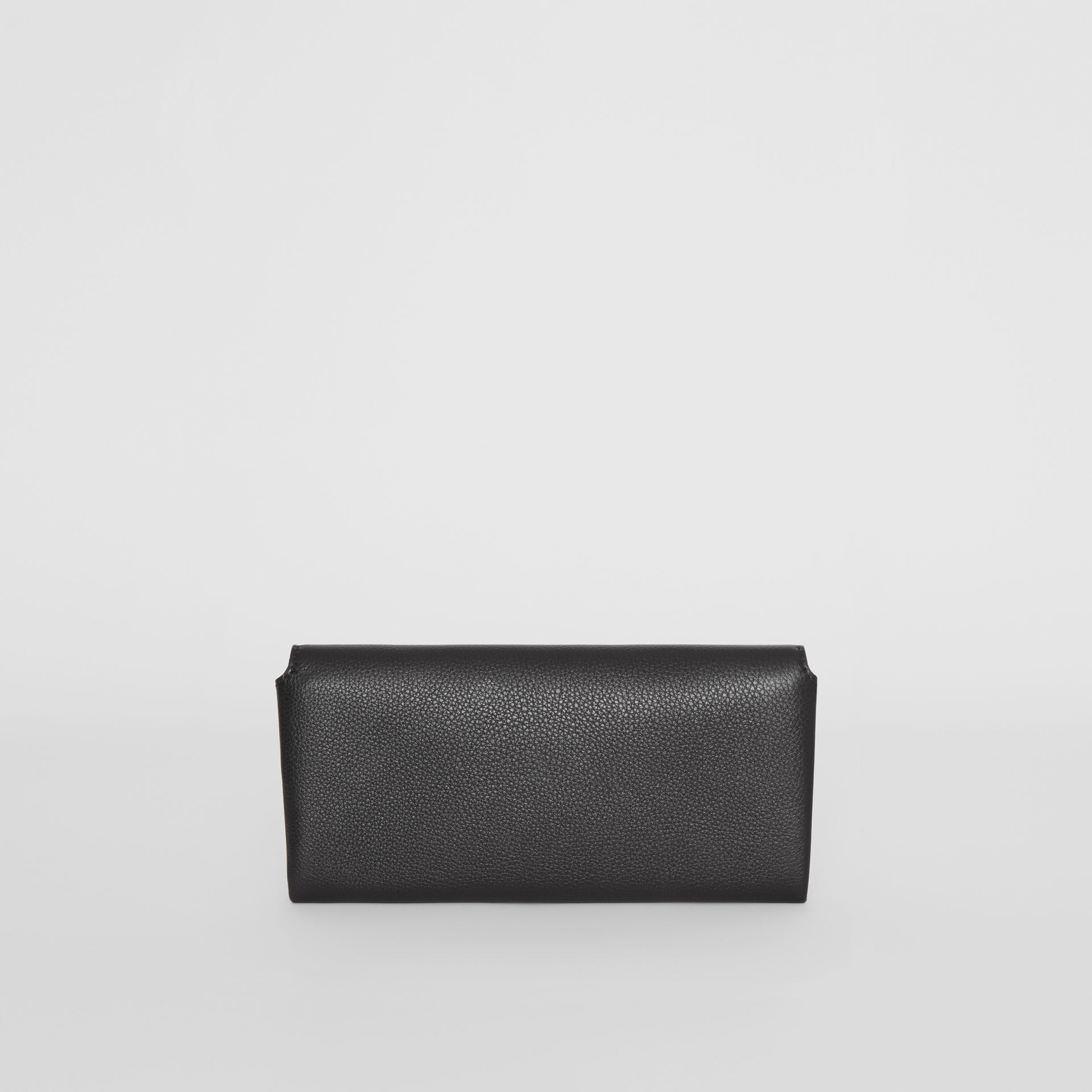 Two-tone Leather Continental Wallet in Black - Women | Burberry - gallery image 6