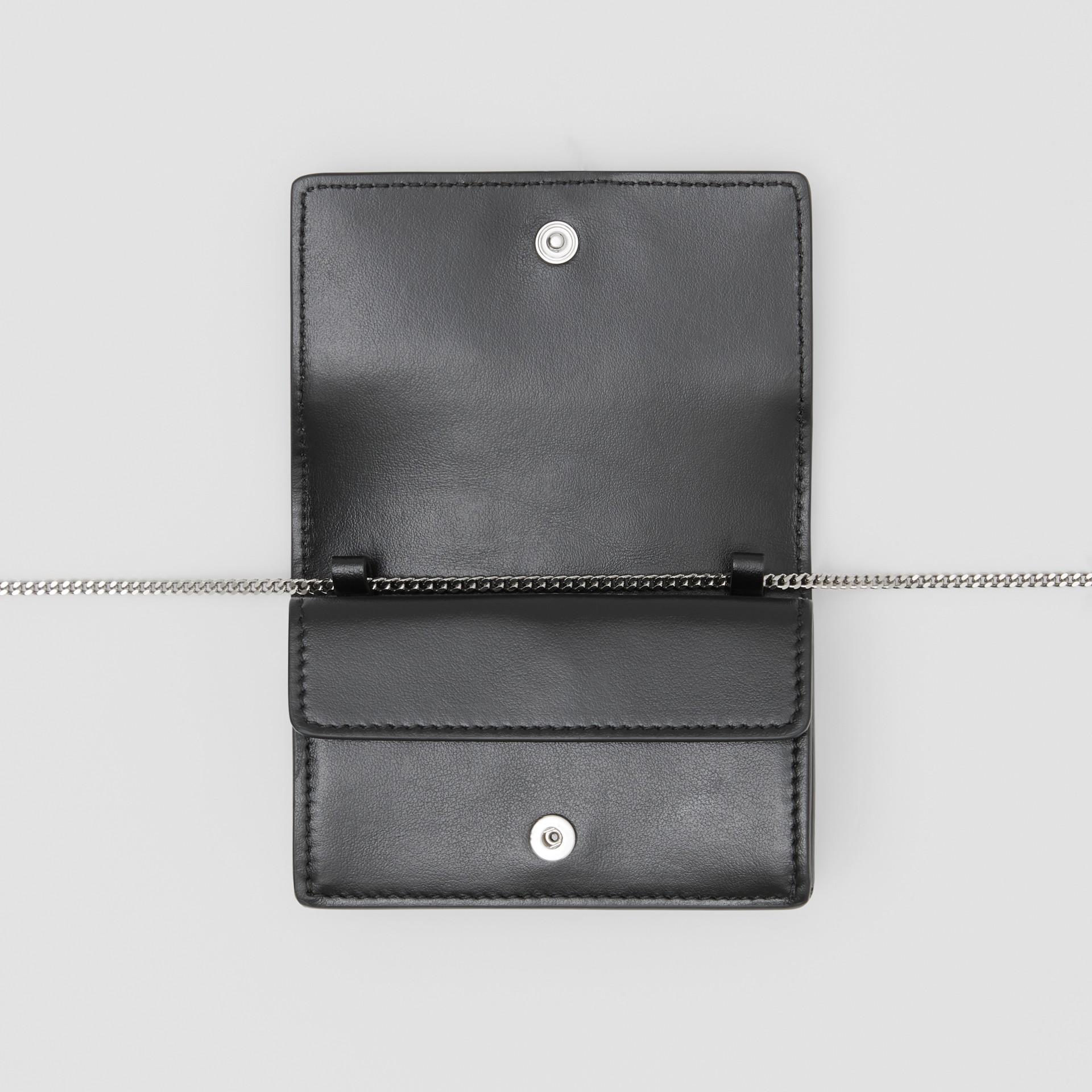 Porte-cartes en cuir avec ornements et sangle amovible (Noir)   Burberry Canada - photo de la galerie 5