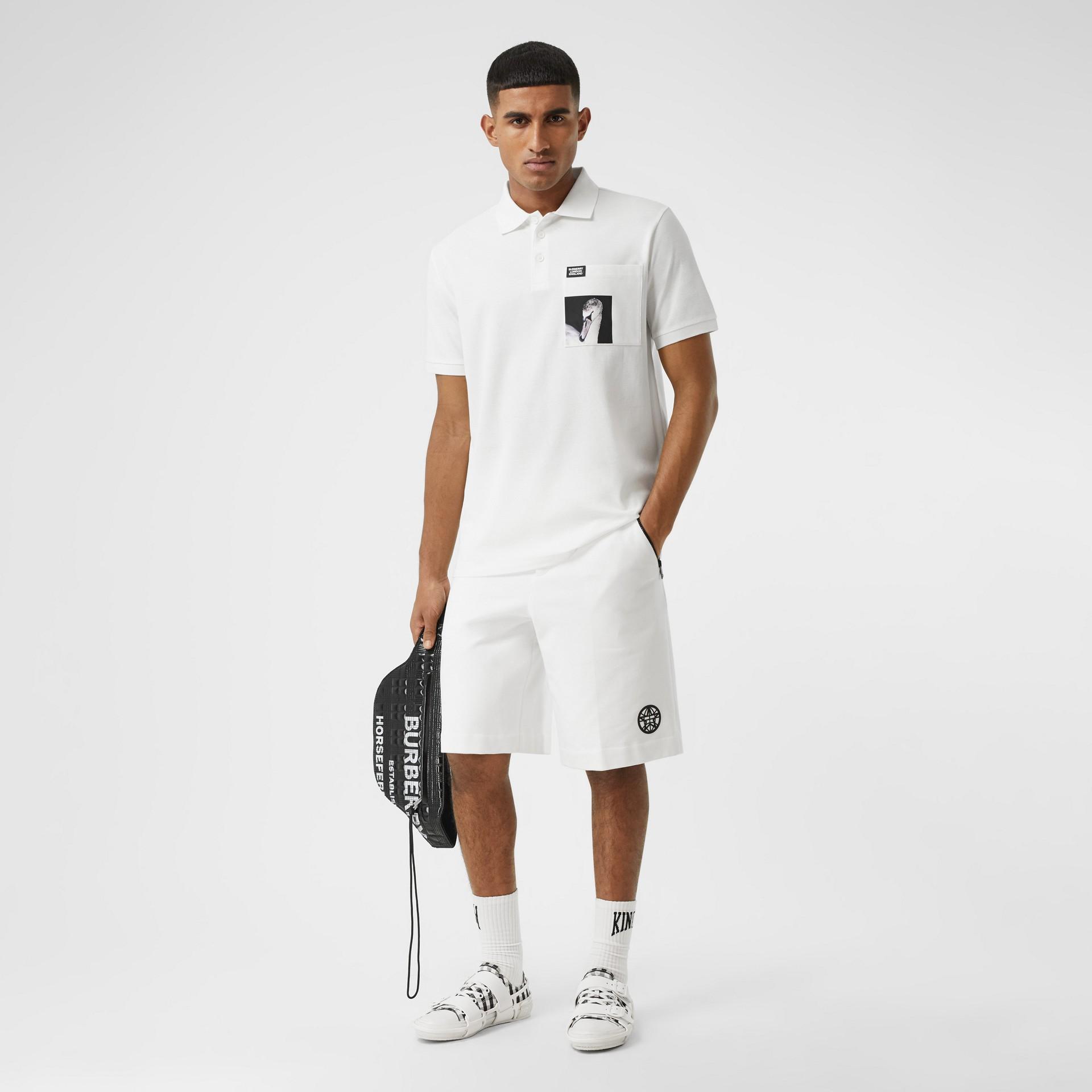 Poloshirt aus Baumwolle mit Schwanenmotiv (Weiß) - Herren | Burberry - Galerie-Bild 4