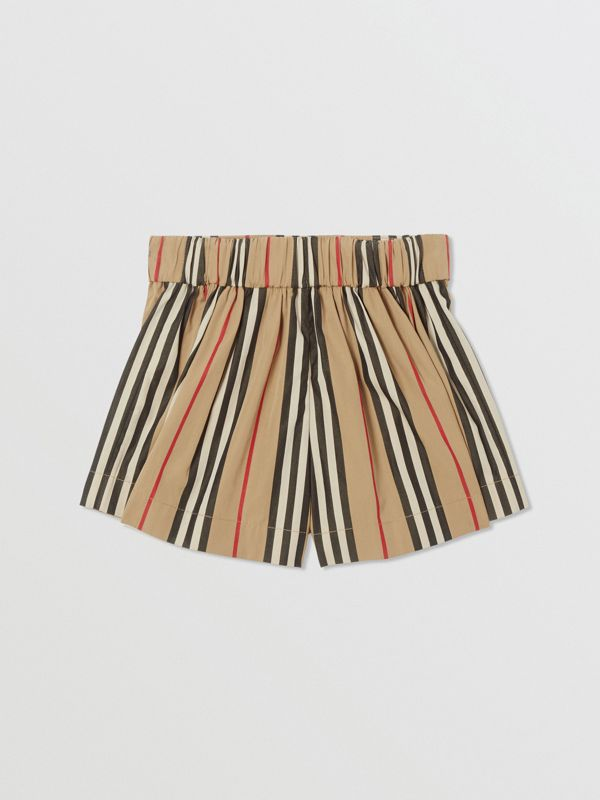 Icon Stripe Cotton Sailor Shorts in Archive Beige | Burberry United Kingdom - cell image 3