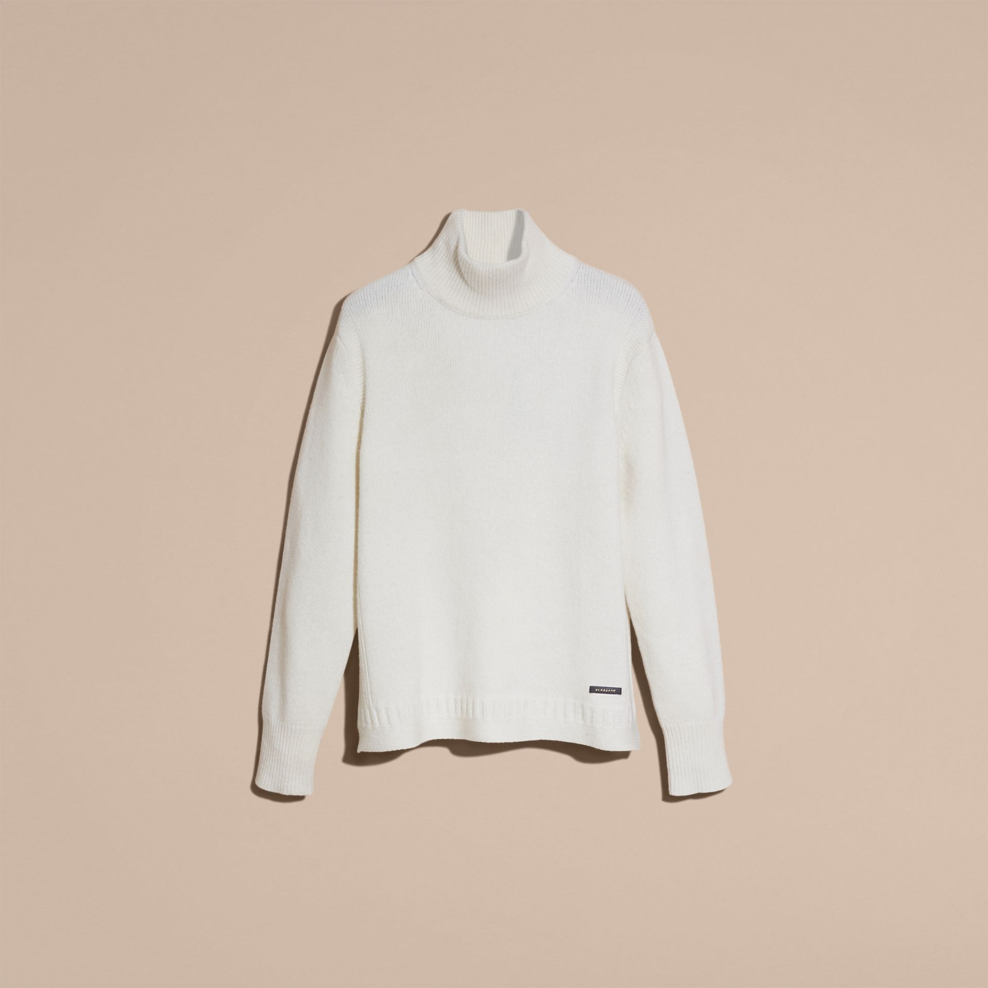 Natural white Funnel Neck Wool Sweater Natural White - gallery image 4