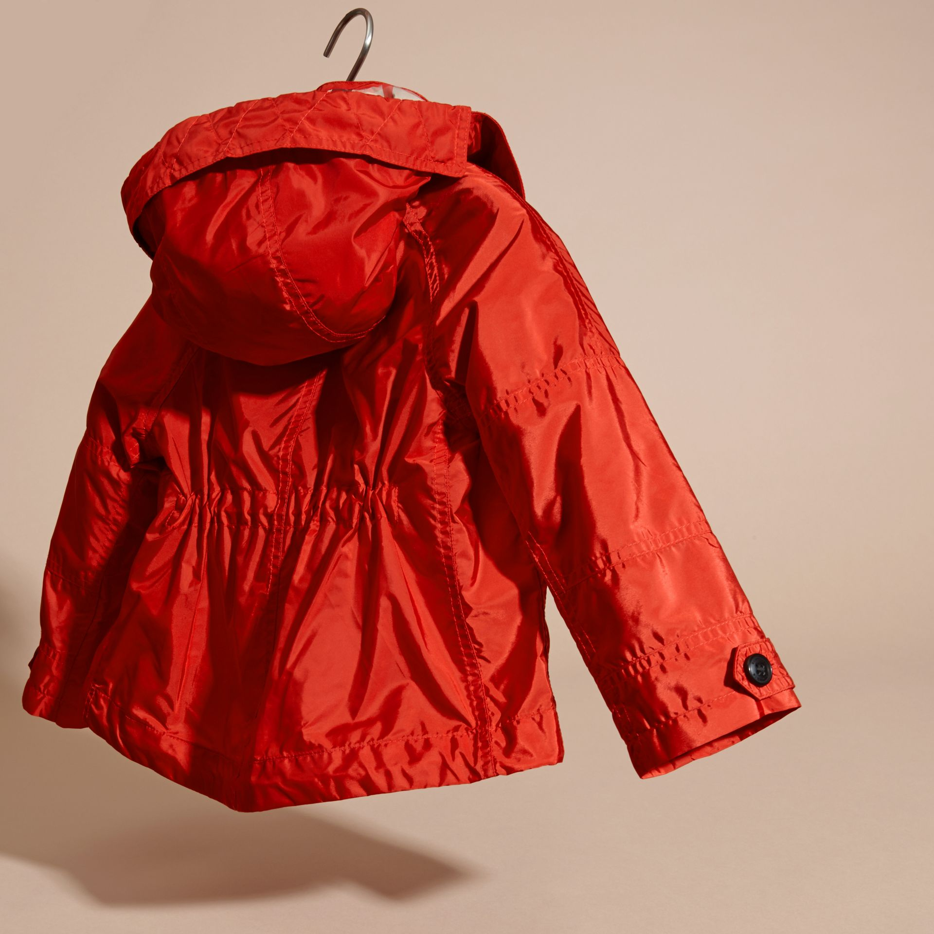Military red Technical Jacket with Hood - gallery image 4