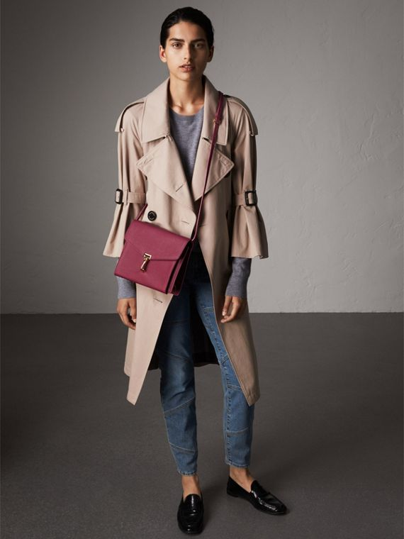 Small Grainy Leather Crossbody Bag in Berry Pink - Women | Burberry Singapore - cell image 2