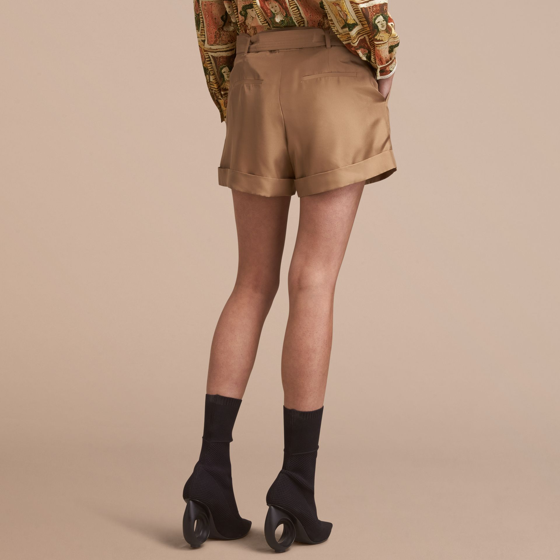 Tailored Silk Shorts - gallery image 3