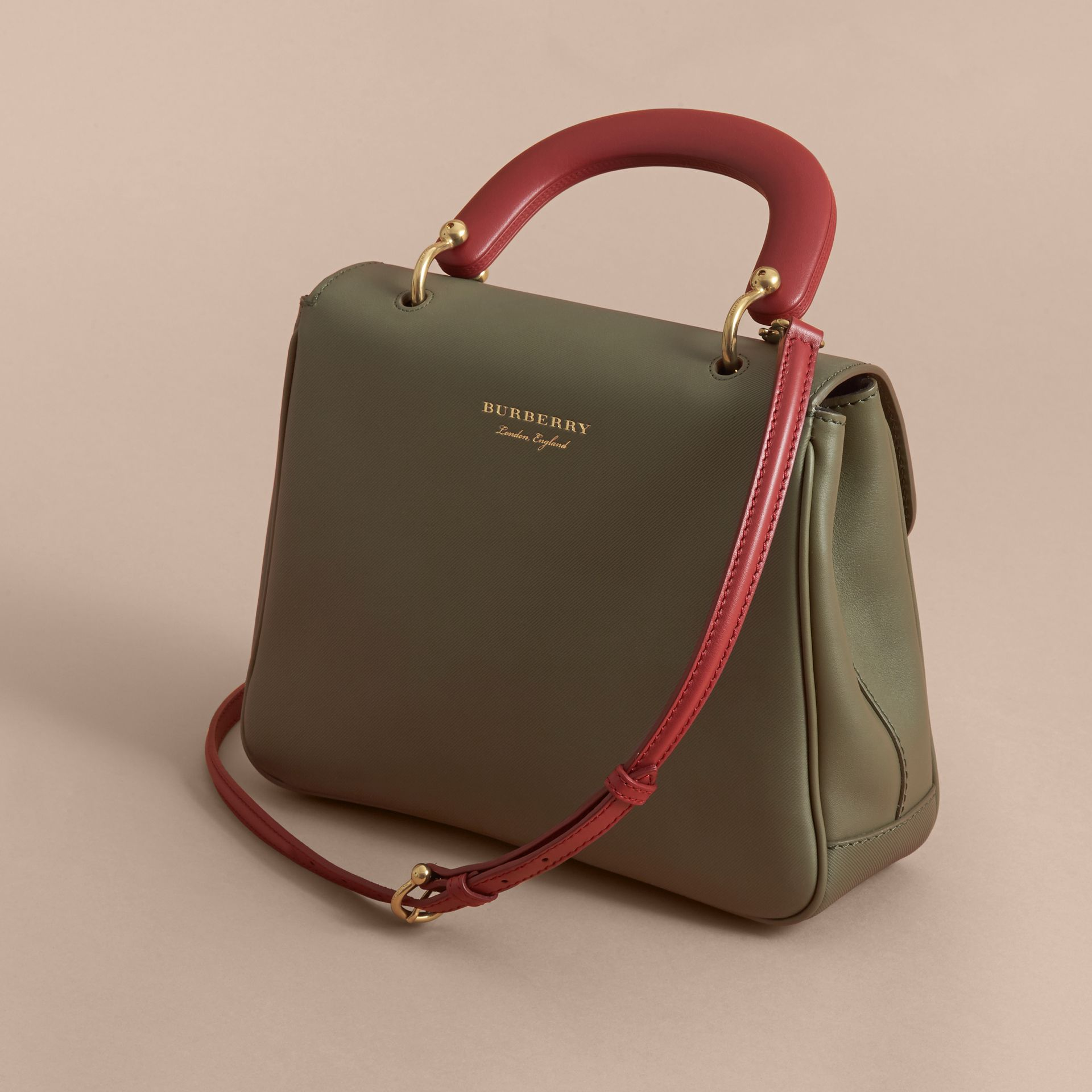 The Medium DK88 Top Handle Bag in Moss Green - Women | Burberry - gallery image 4