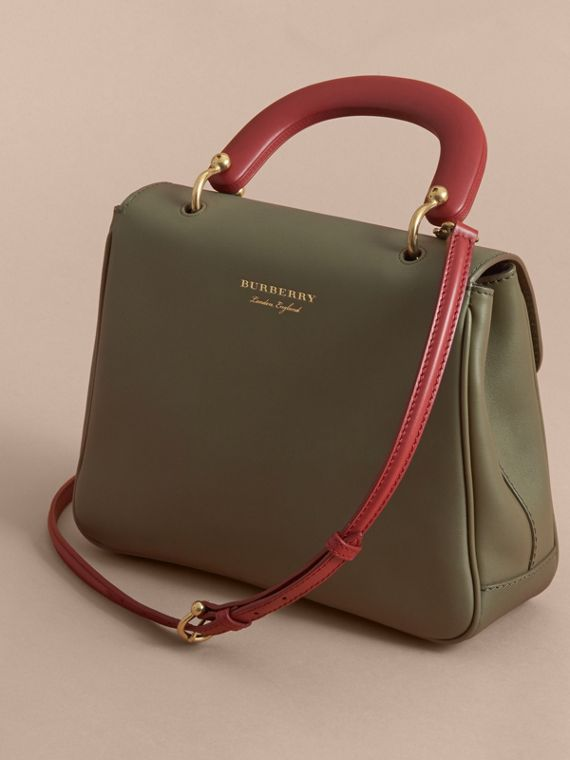 The Medium DK88 Top Handle Bag in Moss Green - Women | Burberry - cell image 3