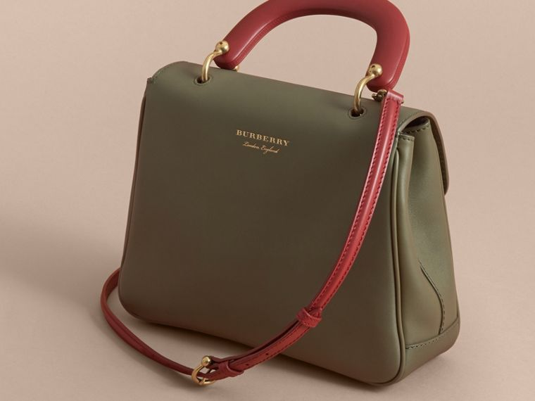 The Medium DK88 Top Handle Bag in Moss Green - Women | Burberry - cell image 4