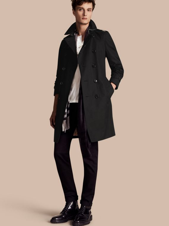 The Chelsea – Long Heritage Trench Coat Black