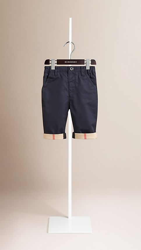 Ink Check Cuff Chinos - Image 1