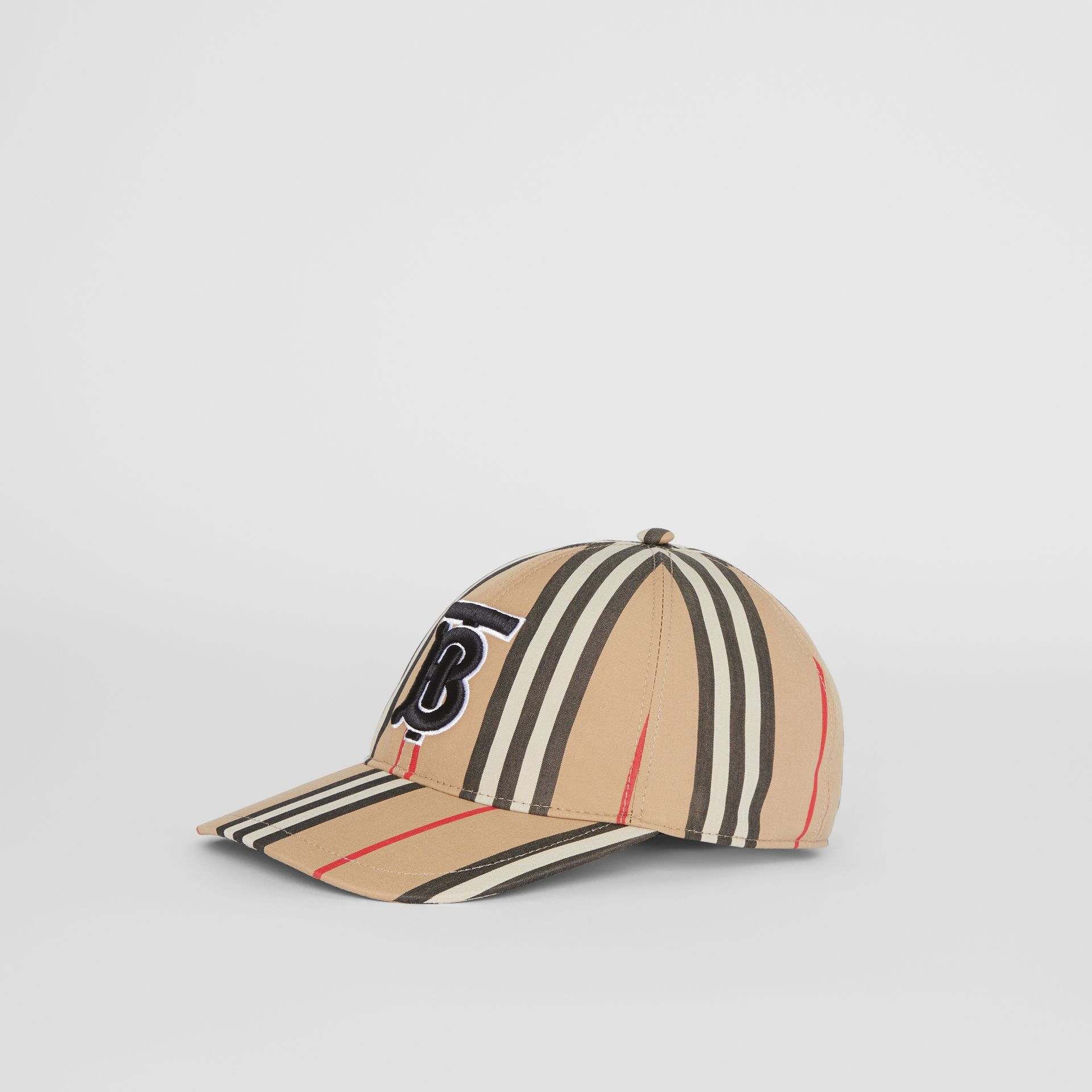 Icon Stripe Baseball Cap in Archive Beige | Burberry - gallery image 4