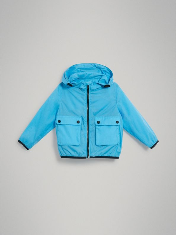 Showerproof Hooded Jacket in Bright Turquoise