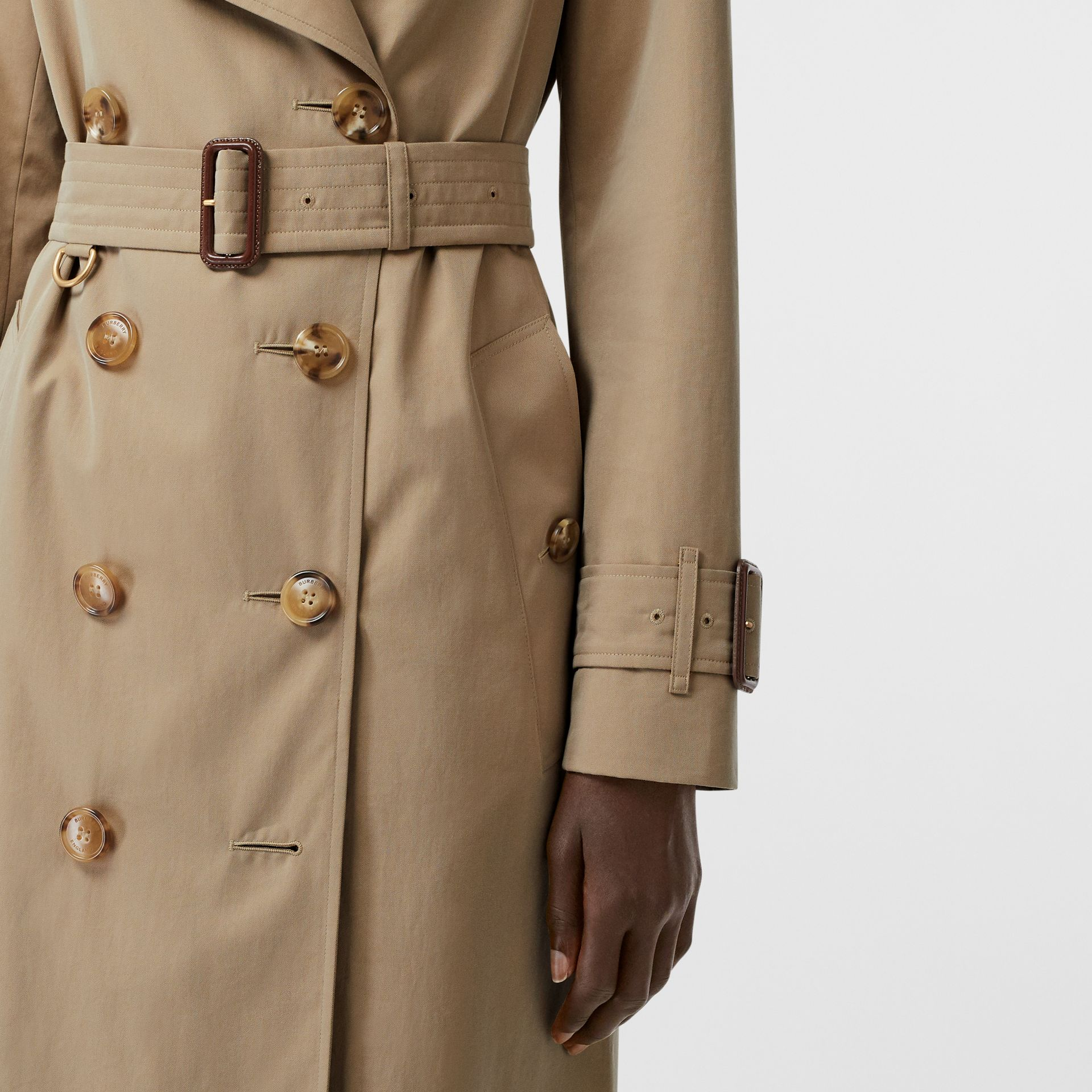 Tropical Gabardine Trench Coat in Honey - Women | Burberry Singapore - gallery image 4