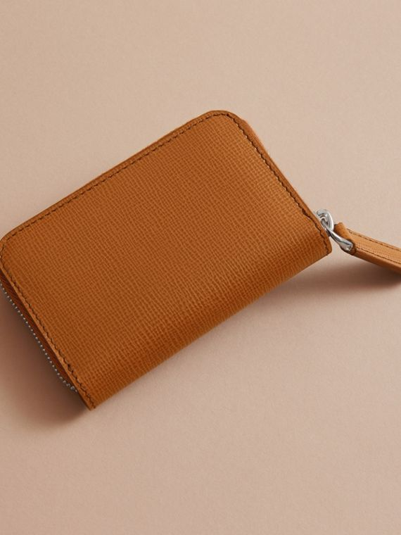 London Leather Ziparound Coin Case in Tan | Burberry - cell image 3