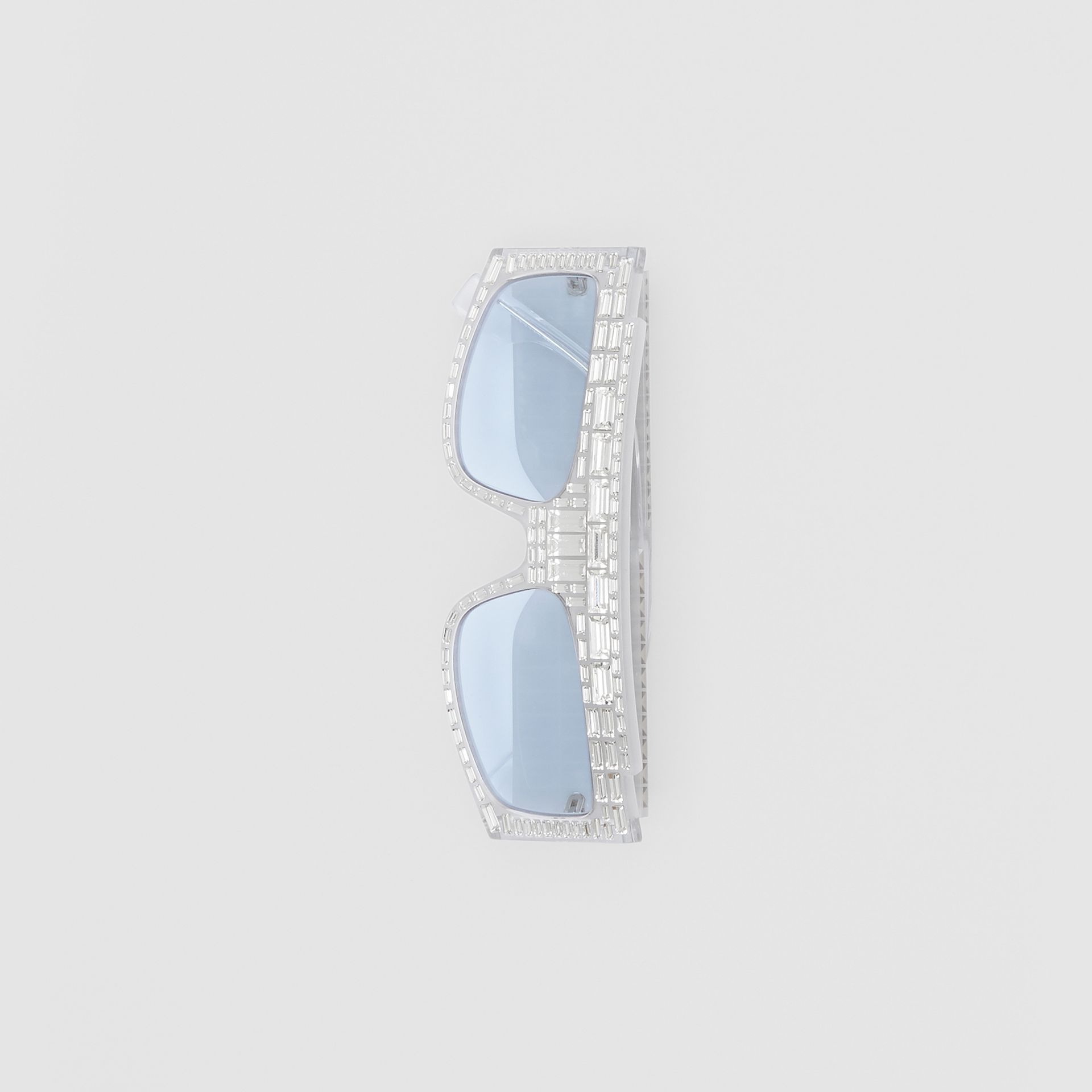 Crystal Rectangular Frame Sunglasses - Women | Burberry - gallery image 3