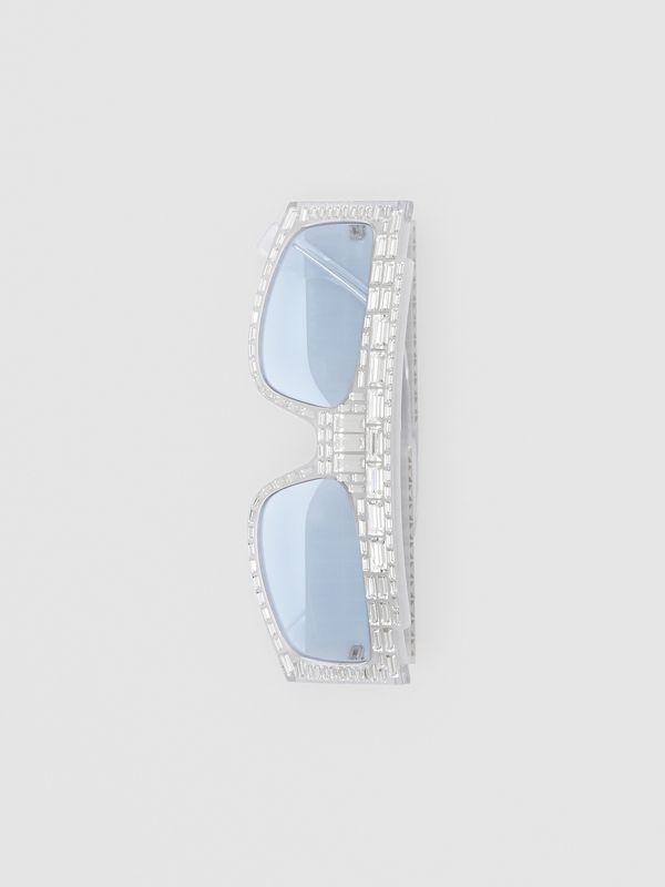 Crystal Rectangular Frame Sunglasses - Women | Burberry - cell image 3