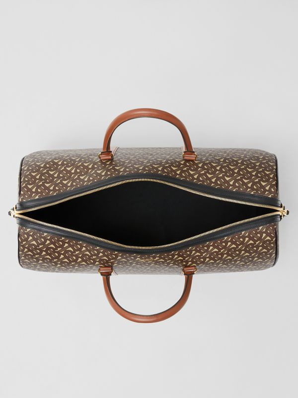 Monogram Print E-canvas and Leather Holdall in Bridle Brown - Men | Burberry United Kingdom - cell image 3