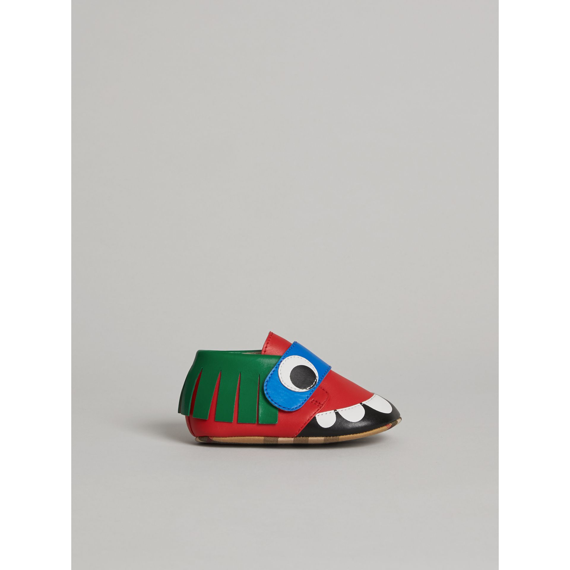 Chaussures en cuir à motif monstre (Rouge Vif) - Enfant | Burberry Canada - photo de la galerie 3
