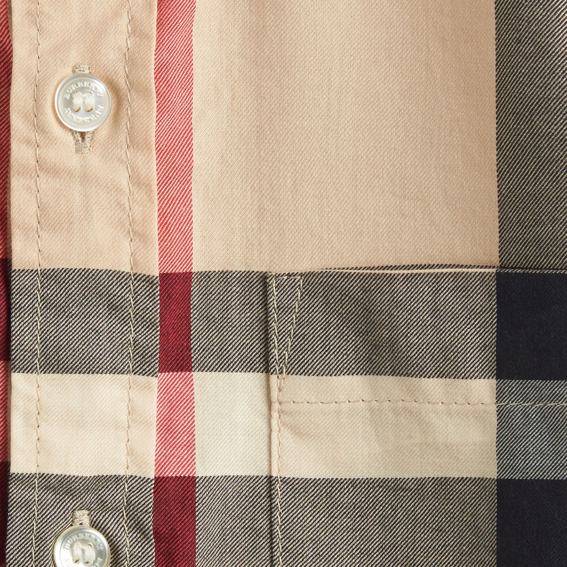 New classic Short-sleeve Check Cotton Twill Shirt New Classic - gallery image 2