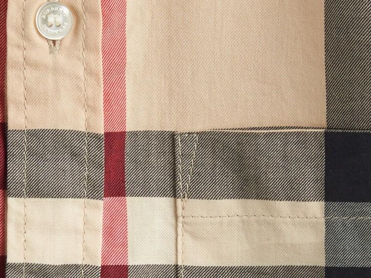 New classic Camicia a maniche corte in twill di cotone con motivo check New Classic - cell image 1
