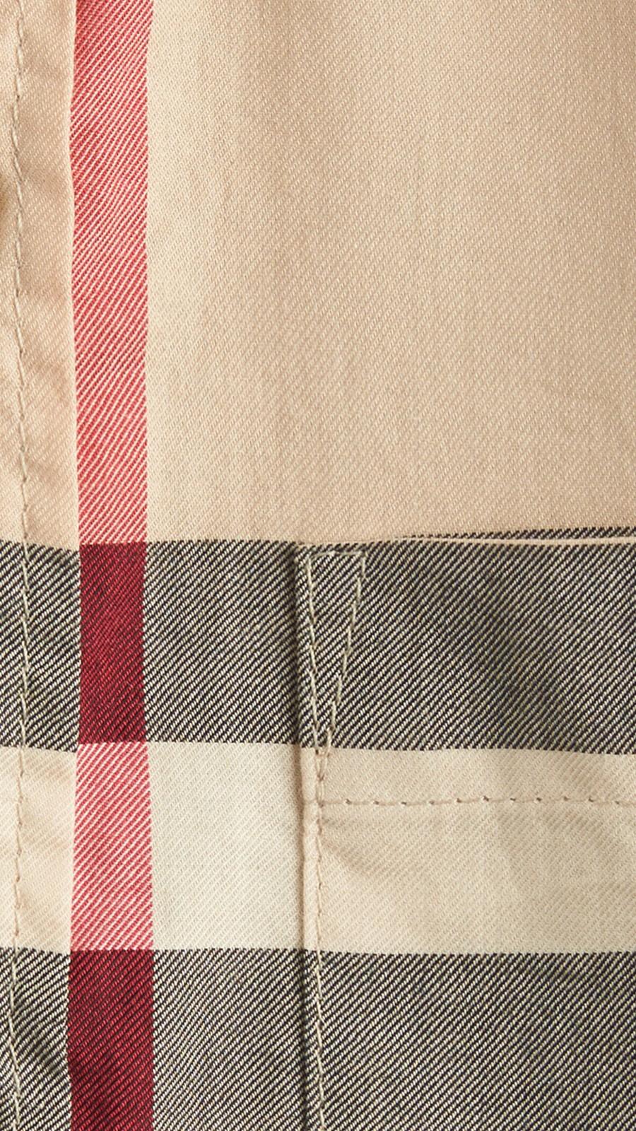 Nouveau check classique Chemise en sergé de coton à manches courtes avec motif check Nouveau  Classique - Image 2