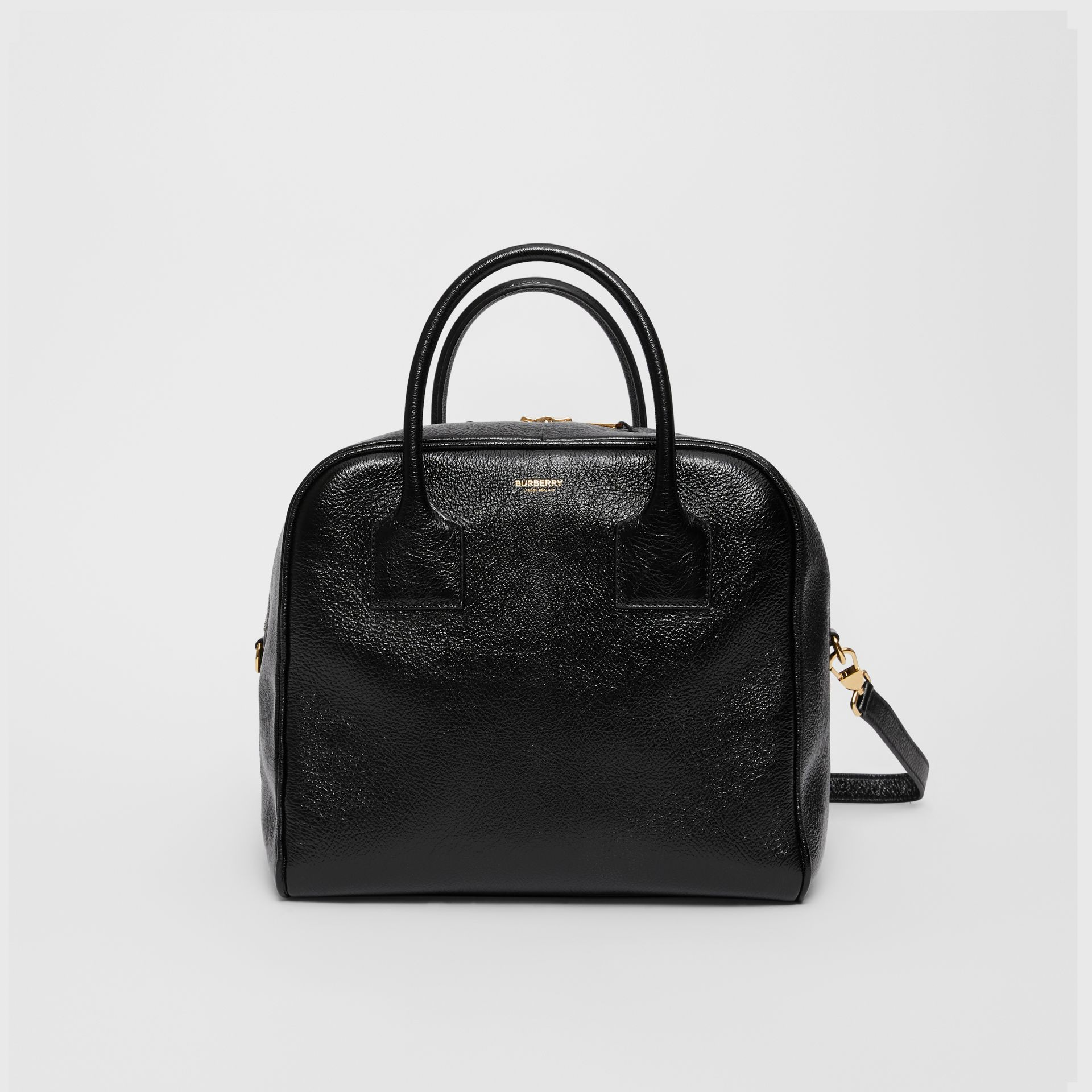 Medium Lambskin Cube Bag in Black - Women | Burberry - gallery image 0