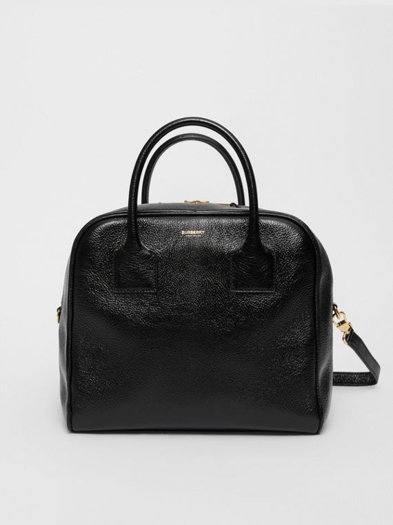 Medium Lambskin Cube Bag in Black