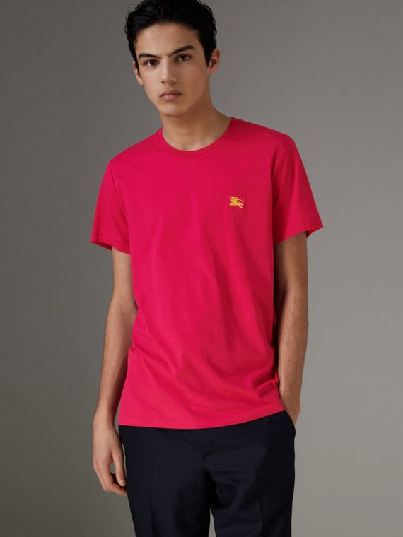 Cotton Jersey T-shirt in Bright Pink