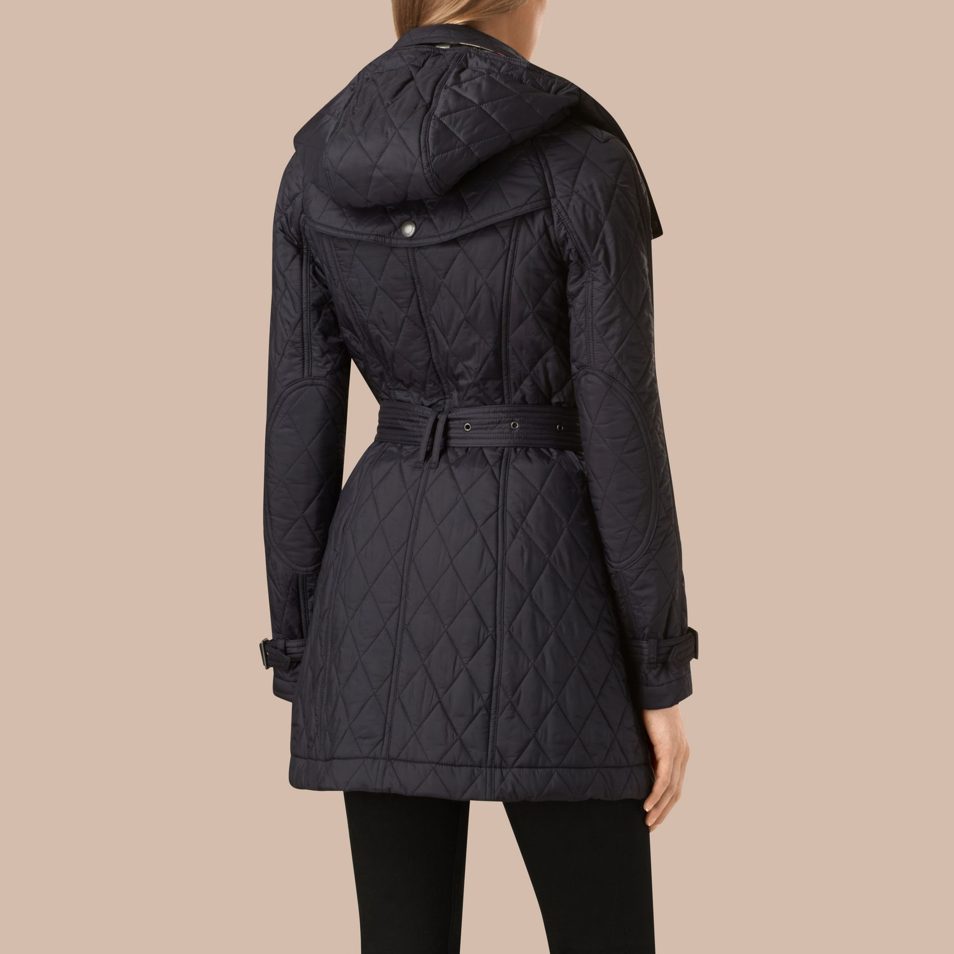 Ink Diamond Quilted Coat Ink - gallery image 4
