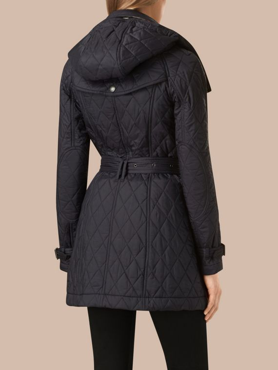 Diamond Quilted Coat Ink - cell image 3